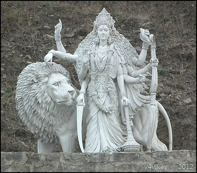 Goddess Durga – Marble Statue Wallpaper