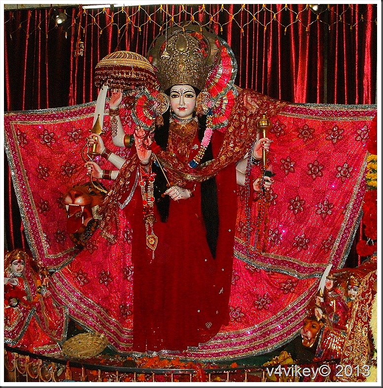 Goddess Durga in Jwalamukhi Temple