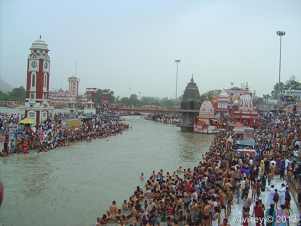 Ganga River at Haridwa...