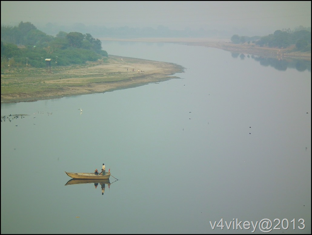 Yamuna River view from the Tajmahal