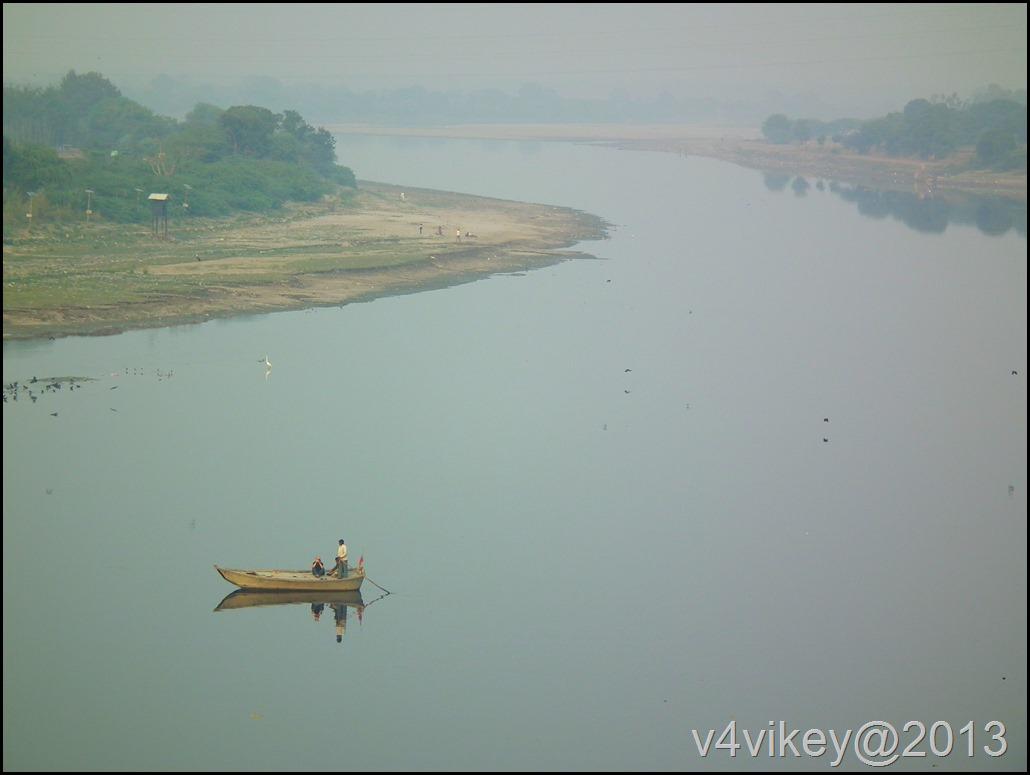 Yamuna River view from the Tajmahal