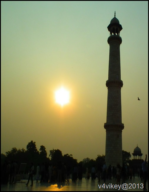 Sunset View of Tajmahal Minar