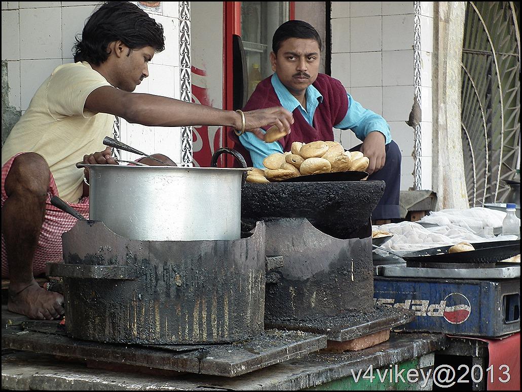 Food in Vrindavan Streets