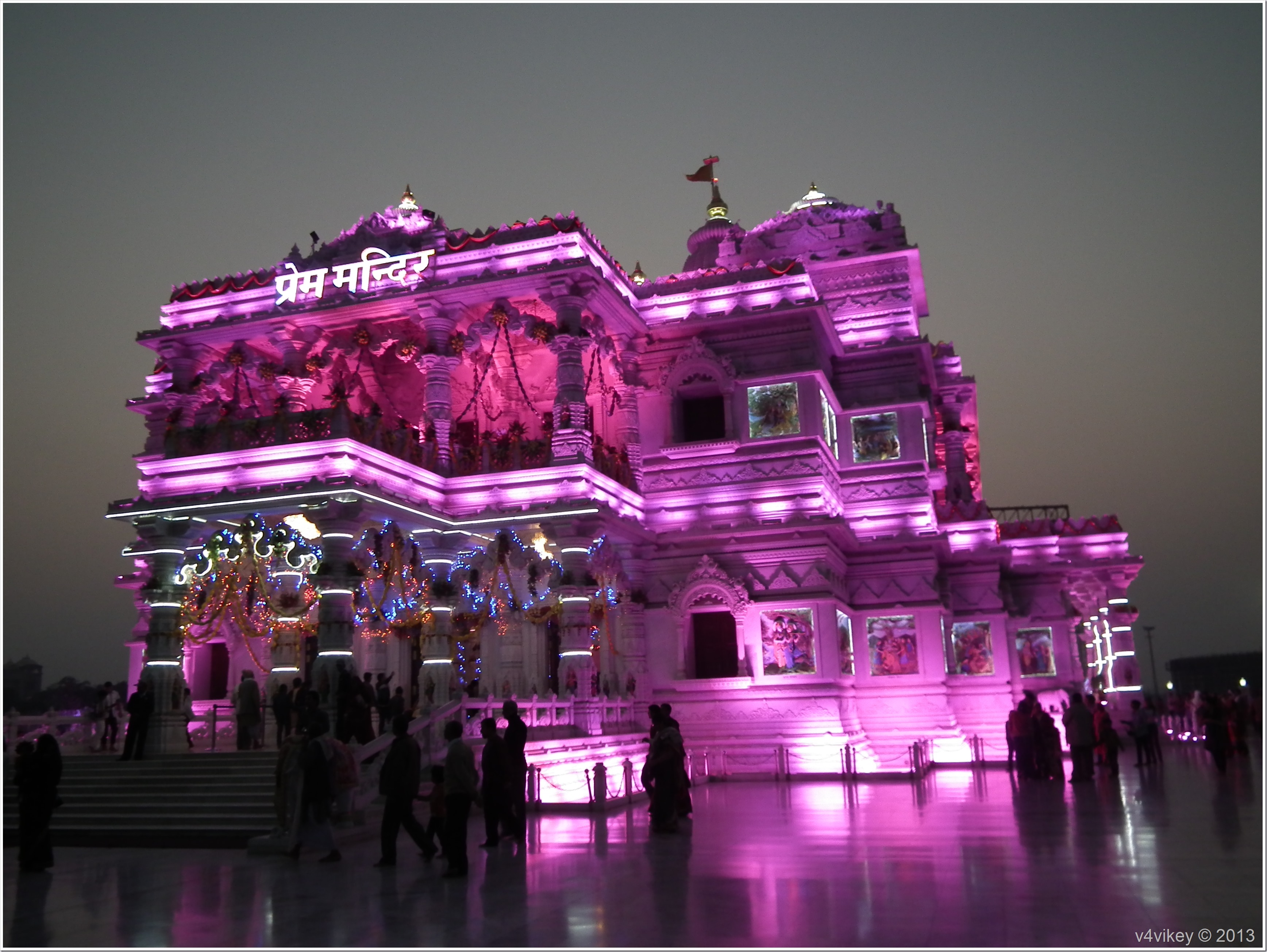 Prem Mandir Night View