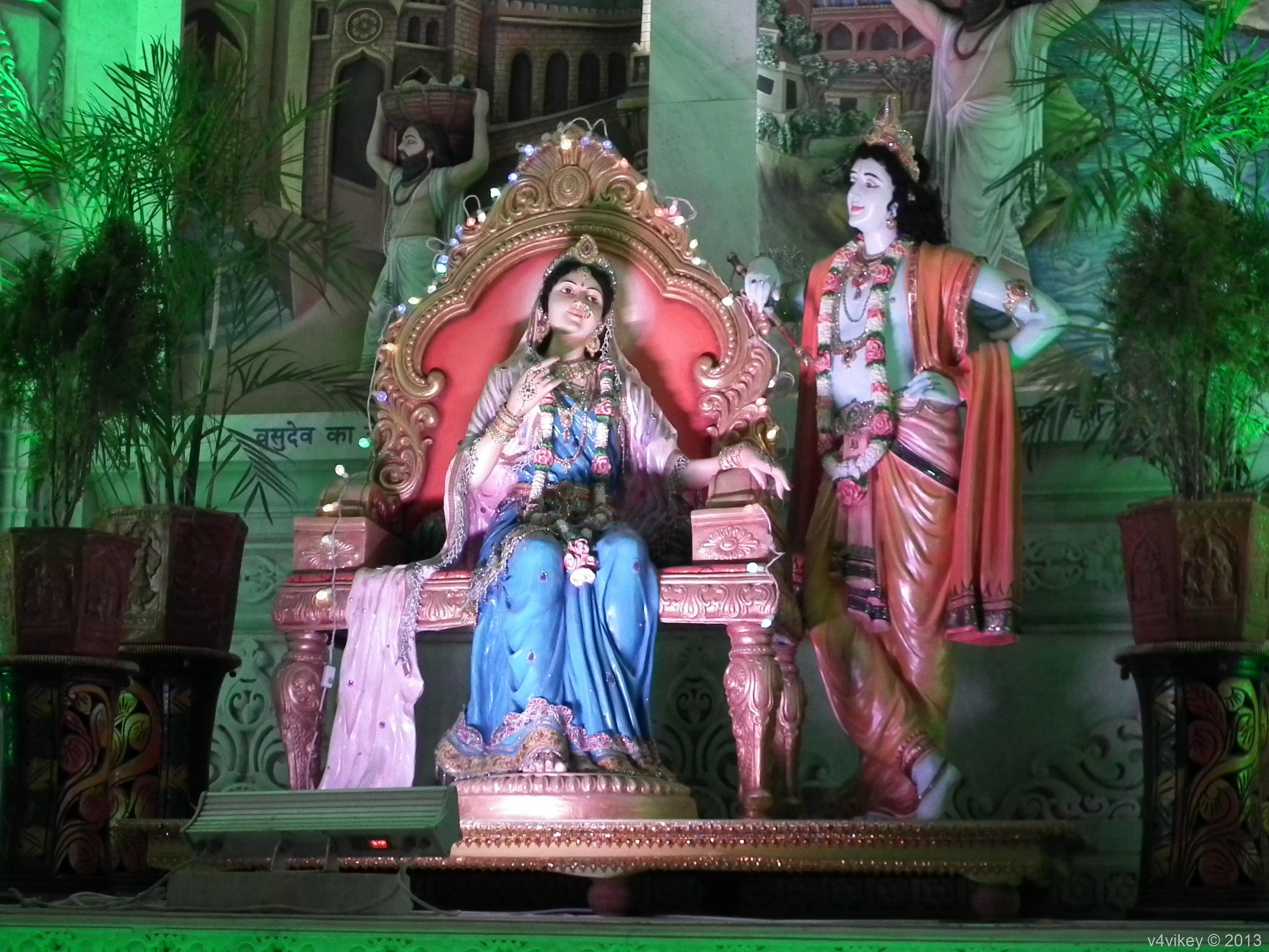 Radha Rani And Krishna Portraits Prem Mandir Vrindavan Wallpaper Tadka