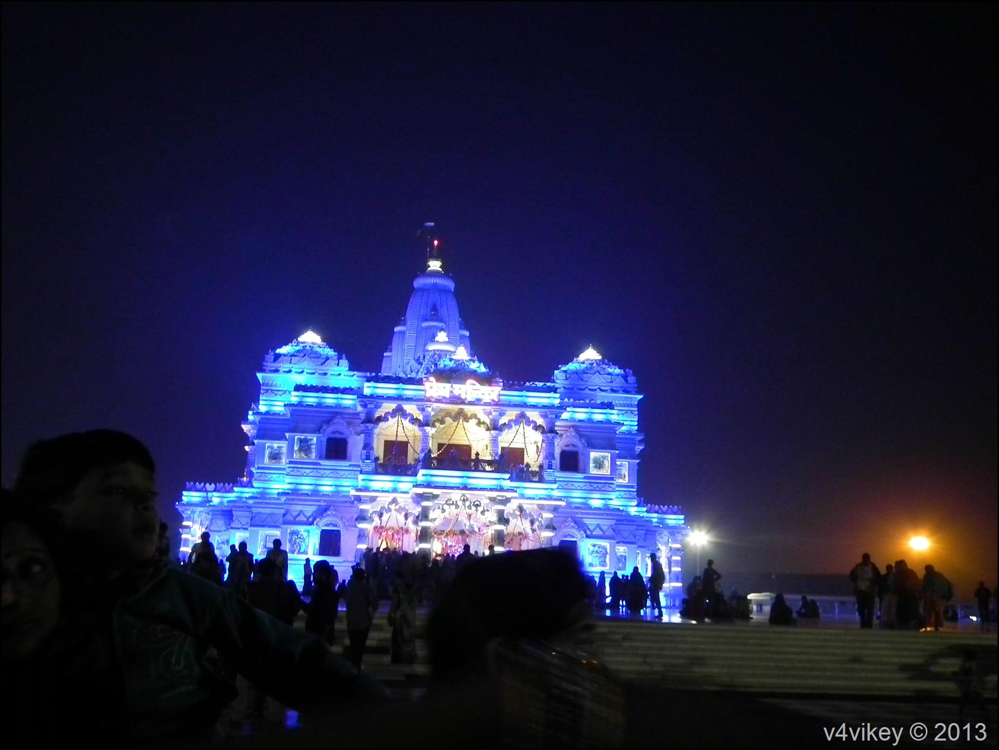 Prem Mandir in Night