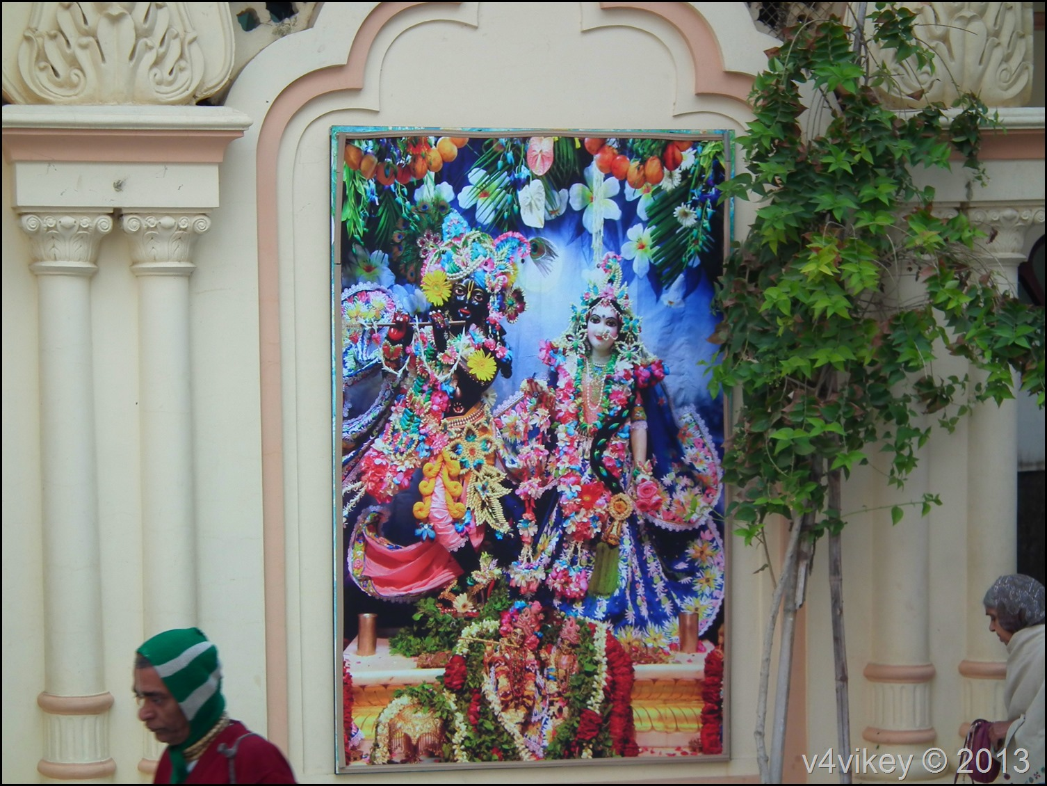 Radha Krishna Portrait at ISKCON