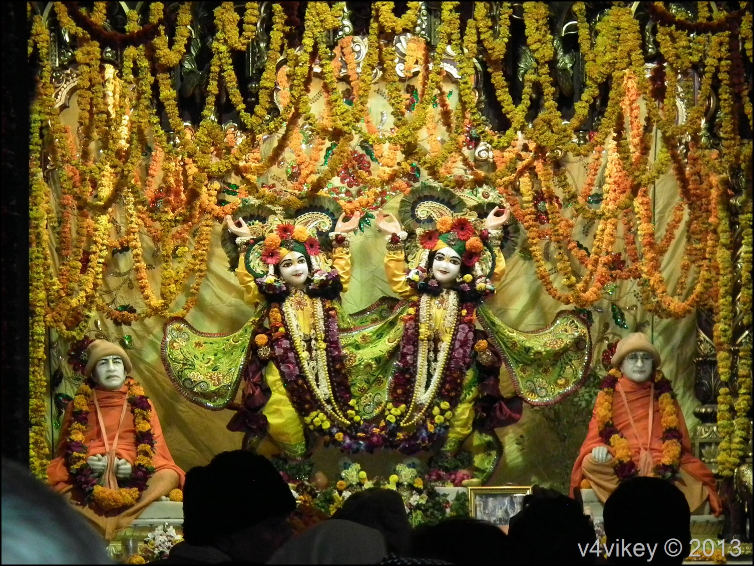 Lord Krishna with Brother Balram–ISKCON