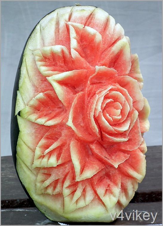 Rose Flower - fruit art
