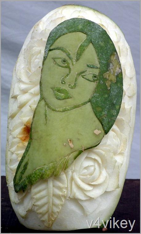 Indian Lady Photo made on fruit