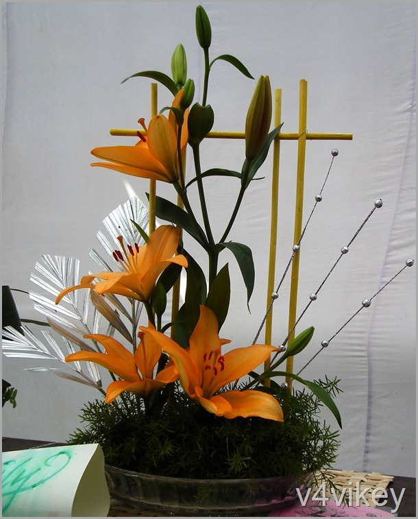 Orange Daylily Flower Bouquet