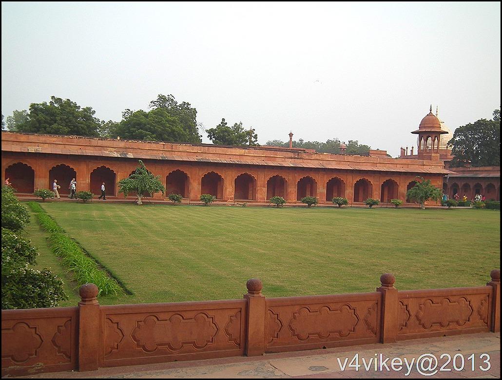 Tajmahal Side wall and garden
